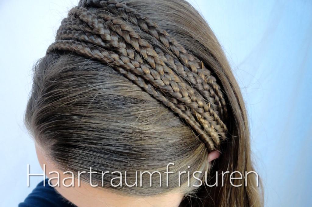 Haarband aus Akzentzöpfen