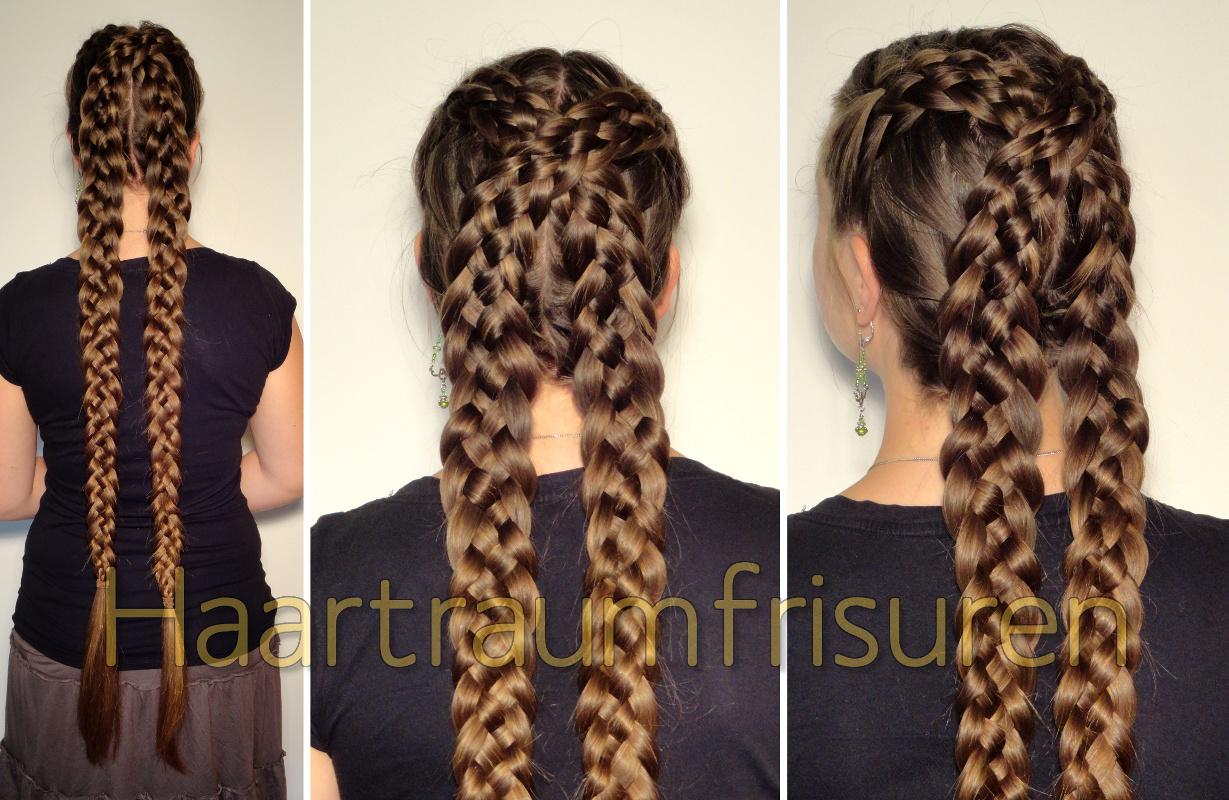 Fünferzopf Variationen Haartraumfrisuren