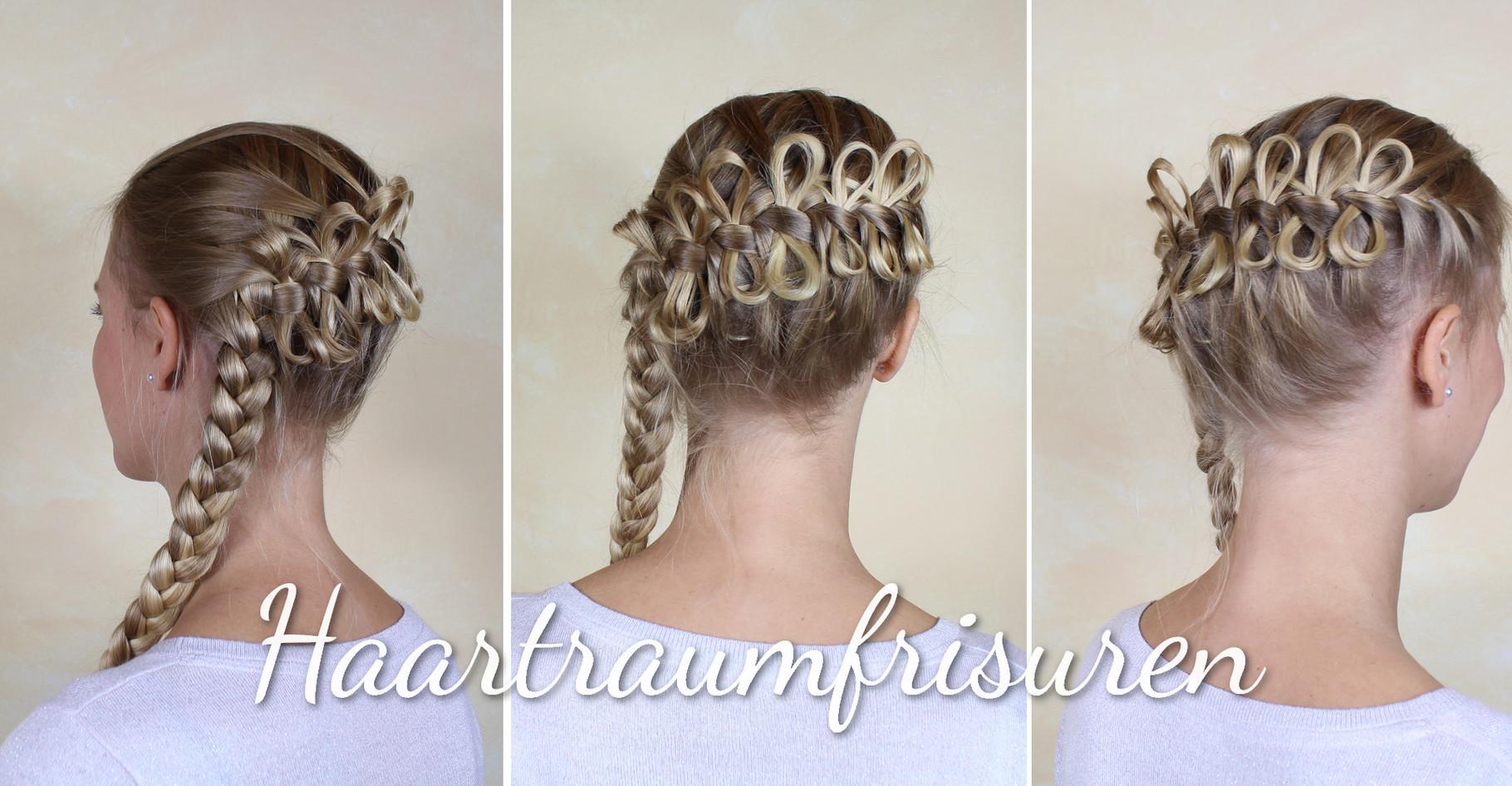 Blonde Schleifchen Haartraumfrisuren