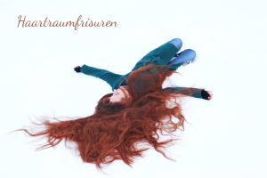 Gephotoshoppte rote Haare