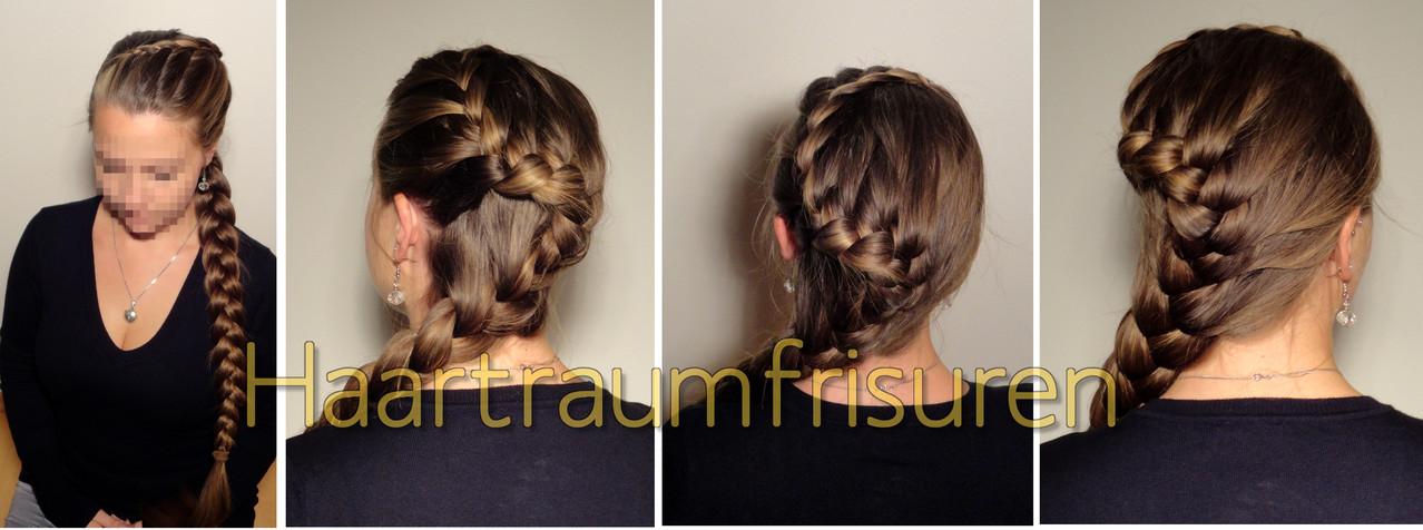 Seitlicher Lace Zopf Haartraumfrisuren