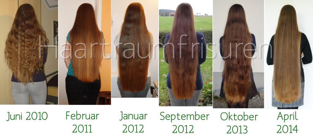 Verlauf meiner Haarlänge 2010-14